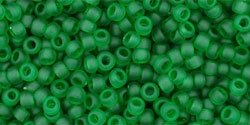 10 g TOHO Seed Beads 11/0 TR-11-0007BF Tr.-Frosted Grass Green