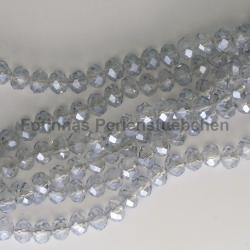 1 Strang facetierte Rondelle 4*6mm black diamond