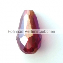 1 facetierter Tropfen 15x10 mm Siam Ruby AB