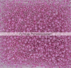 #01.00 - 10 g PRECIOSA Terra Rocailles 11/0 2,2 mm - Crystal/Fuchsia-Lined