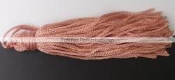 1 Stück Textil-Quaste (ca. 7,0cm) - mit Schlaufe - salmon