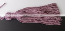 1 Stück Textil-Quaste (ca. 7,0cm) - mit Schlaufe - dusty pink