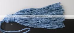 1 Stück Textil-Quaste (ca. 7,0cm) - mit Schlaufe - lt blue