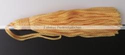 1 Stück Textil-Quaste (ca. 7,0cm) - mit Schlaufe - orange