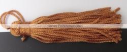 1 Stück Textil-Quaste (ca. 7,0cm) - mit Schlaufe - terracotta