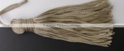1 Stück Textil-Quaste (ca. 7,0cm) - mit Schlaufe - dk nature