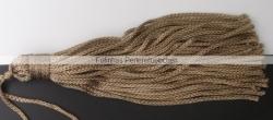 1 Stück Textil-Quaste (ca. 7,0cm) - mit Schlaufe - tan