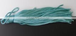 1 Stück Textil-Quaste (ca. 7,0cm) - mit Schlaufe - geen turquoise