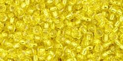 10 g TOHO Seed Beads 11/0 TR-11-0032 - Silver-Lined Lemon (A,D)