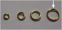 20 Stück Biegeringe 10x1,2mm dick - goldfarben