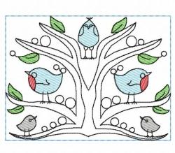 Kantenelement - Vögel #3