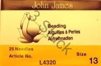 3 Stück  13er Fädelnadel von John James 4,9 cm lang