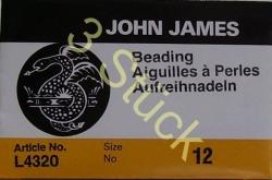 3 Stück  12er Fädelnadel von John James 5,1 cm lang