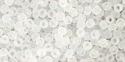 10 g TOHO Seed Beads 11/0 TR-11-0001 F - Tr.-Frosted Crystal