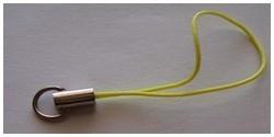 1 Stück Handykordel mit Biegering - gelb