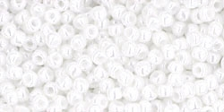 10 g TOHO Seed Beads 11/0 TR-11-0121 - Opaque-Lustered White