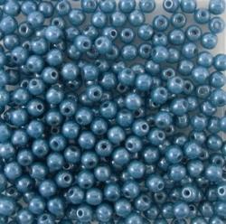 #10 - 50 Stück Perlen rund - opak denimblue perl - Ø 3 mm