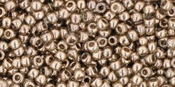 10 g TOHO Seed Beads 11/0 TR-11-0204 - Gold-Lustered Montana Blue (C)