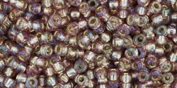 10 g TOHO Seed Beads 11/0 TR-11-2026 -Silver-Lined Rainbow Amethyst