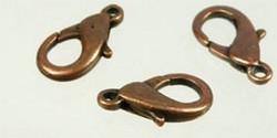 1 Stück Karabinerverschluss - 16mm alt kupferfarben