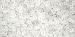 5g TOHO SeedBeads 15/0 TR-15-0001 F - Tr.-Frosted Crystal