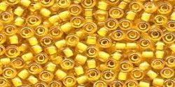 10 g TOHO Seed Beads 11/0 TR-11-0949 - Inside-Color Topaz/Topaz Lined (E)