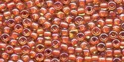 10 g TOHO Seed Beads 11/0 TR-11-0951 - Inside-Color Topaz/Lt Brick Red Lined (E)