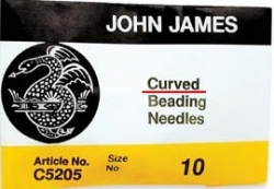 1 Stück  10er Fädelnadel von John James gebogen