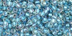 10 g TOHO Seed Beads 11/0 TR-11-0263 - Inside-Color Rainbow Crystal/Light Capri (E)