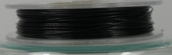 1 Rolle Stahldraht/nylonummantelt - schwarz