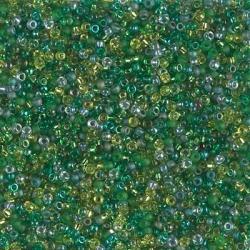 5 Gramm Miyuki Seed Beads 15-Mix 10 Ever Green