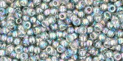 10 g TOHO Seed Beads 11/0 TR-11-0176 - Tr.-Rainbow Black Diamond