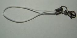 1 Stück Handykordel mit Biegering & Karabiner - weiß