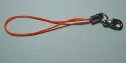 1 Stück Handykordel mit Biegering & Karabiner - orange