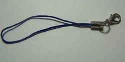 1 Stück Handykordel mit Biegering & Karabiner - hell-blau
