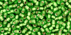 10 g TOHO Seed Beads 11/0 TR-11-0027 F Peridot Silver-Lined Frosted (A,D)