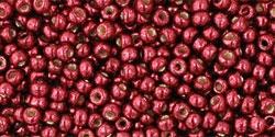 10 g TOHO Seed Beads 11/0 TR-11-PF564 - Permanent Finish - Galvanized Brick Red (A,D,C)