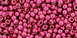 10 g TOHO Seed Beads 11/0 TR-11-PF563 - Permanent Finish - Galvanized Dark Dusty Rose (A,D,C)