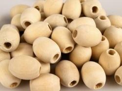 10 Stück Holzoliven ca. 18 x 20 mm