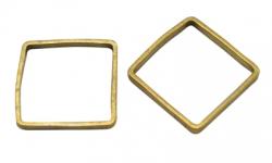 20 Stück Messing-Ringe 8x8 mm
