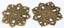 #21 1 Stück filigranes Metall Ø ± 44 mm bronzefarben