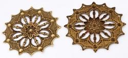 #22 1 Stück filigranes Metall Ø ± 44 mm bronzefarben