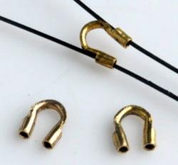 10 Stück Drahtschutz Wire Guard antikgold