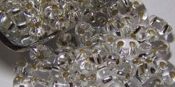 #04 10g Preciosa® TwinBeads crystal silver-lined