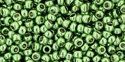 10 g TOHO Seed Beads 11/0 TR-11-PF560 - Permanent Finish - Galvanized Lime (A,D,C)