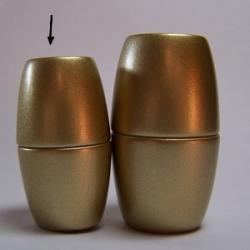 Power-Magnetverschluss - 35x20 mm goldfarben matt Innen Ø 12mm