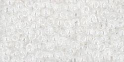 10 g TOHO Seed Beads 11/0 TR-11-0101 - Tr.-Lustered Crystal