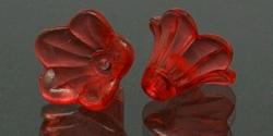 #29.0 - 1 Acrylblüte transp. Ø 14x10 mm red