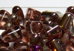 #04 - 10 Stck. Gum-Bead 7x10mm - crystal slipterit