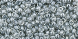 10 g TOHO Seed Beads 11/0 TR-11-0112 - Tr.-Lustered Black Diamond